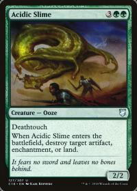 magic the gathering commander 2018 acidic slime 127 307