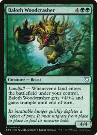 magic the gathering commander 2018 baloth woodcrasher 130 307