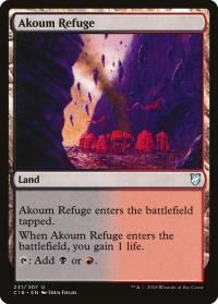 magic the gathering commander 2018 akoum refuge 231 307