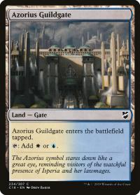 magic the gathering commander 2018 azorius guildgate 234 307
