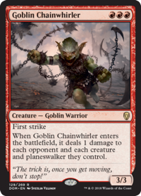 magic the gathering dominaria goblin chainwhirler 129 269