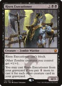 magic the gathering dragons of tarkir risen executioner 116 264 foil