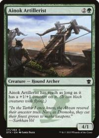 magic the gathering dragons of tarkir ainok artillerist 171 264