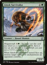 magic the gathering dragons of tarkir ainok survivalist 172 264