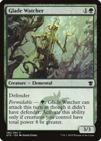 magic the gathering dragons of tarkir glade watcher 188 264 foil