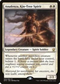 magic the gathering dragons of tarkir anafenza kin tree spirit 2 264 foil