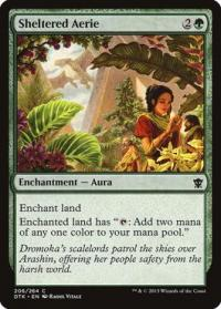 magic the gathering dragons of tarkir sheltered aerie 206 264 foil