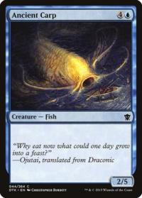 magic the gathering dragons of tarkir ancient carp 44 264