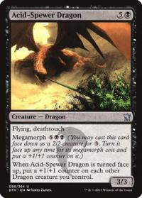 magic the gathering dragons of tarkir acid spewer dragon 86 264