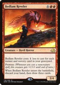 magic the gathering eldritch moon bedlam reveler foil