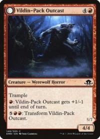 magic the gathering eldritch moon vildin pack outcast dronepack kindred 148 205
