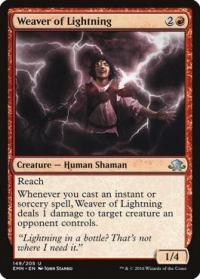 magic the gathering eldritch moon weaver of lightning foil