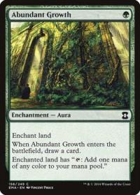 magic the gathering eternal masters abundant growth 156 249 foil