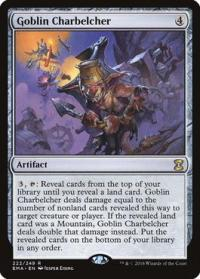 magic the gathering eternal masters goblin charbelcher 222 249