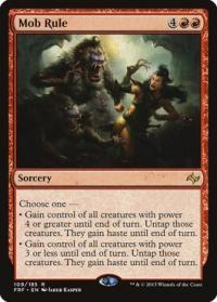 magic the gathering fate Reforged mob rule 109 185
