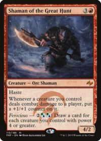 magic the gathering fate Reforged shaman of the great hunt 113 185