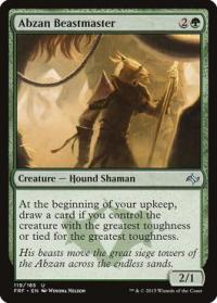 magic the gathering fate Reforged abzan beastmaster 119 185