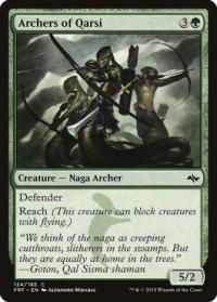 magic the gathering fate Reforged archers of qarsi 124 185