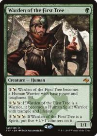 magic the gathering fate Reforged warden of the first tree 143 185