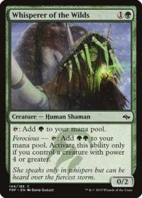magic the gathering fate Reforged whisperer of the wilds 144 185 foil