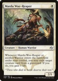 magic the gathering fate Reforged mardu woe reaper 18 185