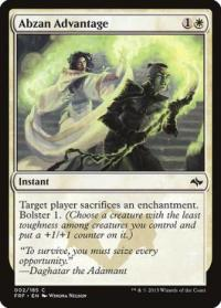 magic the gathering fate Reforged abzan advantage 2 185 foil