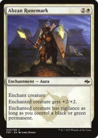 magic the gathering fate Reforged abzan runemark 3 185 foil