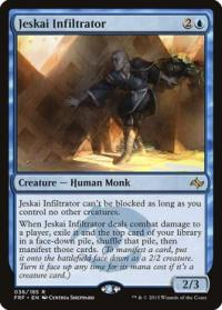 magic the gathering fate Reforged jeskai infiltrator 36 185