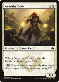 magic the gathering fate Reforged arashin cleric 5 185