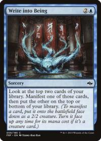 magic the gathering fate Reforged write into being 59 185 foil