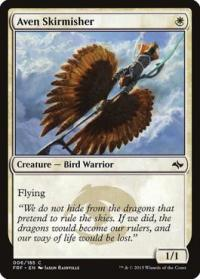 magic the gathering fate Reforged aven skirmisher 6 185