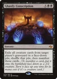 magic the gathering fate Reforged ghastly conscription 70 185