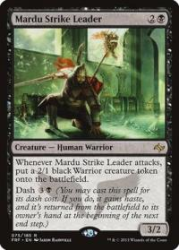 magic the gathering fate Reforged mardu strike leader 75 185