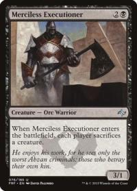 magic the gathering fate Reforged merciless executioner 76 185