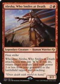 magic the gathering fate Reforged alesha who smiles at death 90 185