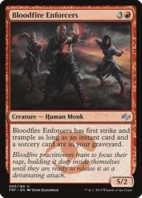 magic the gathering fate Reforged bloodfire enforcers 93 185