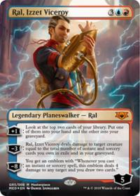 magic the gathering guilds of ravnica mythical ral izzet viceroy