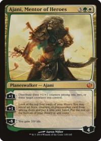 magic the gathering journey into nyx ajani mentor of heroes 145 165