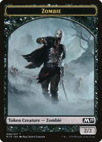 magic the gathering magic 2019 m19 zombie token 008 017