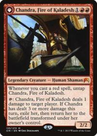 magic the gathering magic origins chandra fire of kaladesh chandra roaring flame 135 272