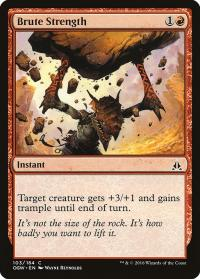magic the gathering oath of the gatewatch brute strength 103 184 foil