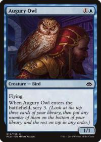 magic the gathering planechase anthology augury owl 14 156