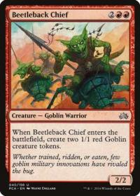 magic the gathering planechase anthology beetleback chief 40 156