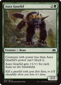 magic the gathering planechase anthology aura gnarlid 55 156