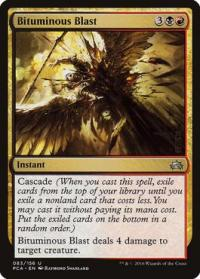magic the gathering planechase anthology bituminous blast 83 156