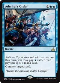 magic the gathering rivals of ixalan admiral s order 31 196