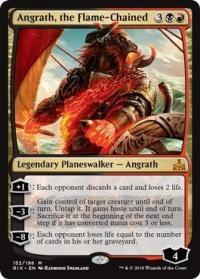 magic the gathering rivals of ixalan angrath the flame chained 152 196