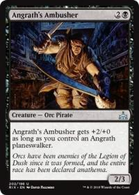 magic the gathering rivals of ixalan angrath s ambusher 202 196