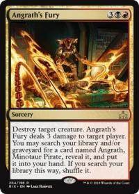 magic the gathering rivals of ixalan angrath s fury 204 196