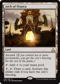 magic the gathering rivals of ixalan arch of orazca 185 196